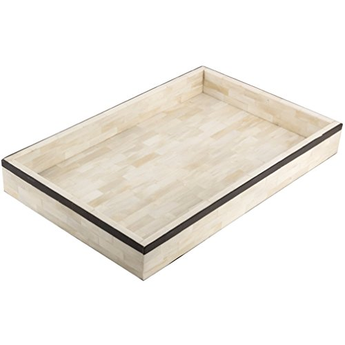 Eccolo Naturals Tray, 11 by 17-Inch, Bordered Edge Black