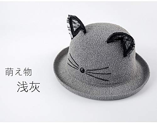 unique dome hat cap women girls spring autumn lace hem cat e