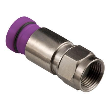 Rg6 Snap N Seal Connectors - Belden Sns1p6qs Snap-n-seal Rg6 Quad Shield F Connectors (Bag of 50)