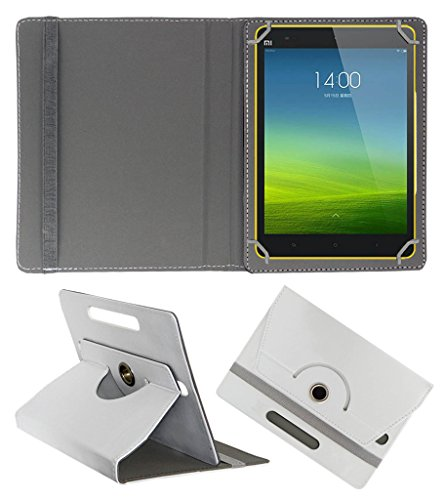 ACM Rotating 360 Leather FLIP CASE Compatible with XIAOMI MI PAD 8 Tablet Stand Cover Holder White