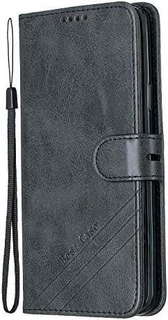 Tosim Galaxy S9+ / docomo SC-03K / au SCV39 ケース 手帳型 カード収納 高級PUレザー スタンド機能 マグネット ギャラクシーS9プラス 財布型 ケース スマホケース 全面保護 衝撃吸収 スマホカバー - TOHEX120241 黒