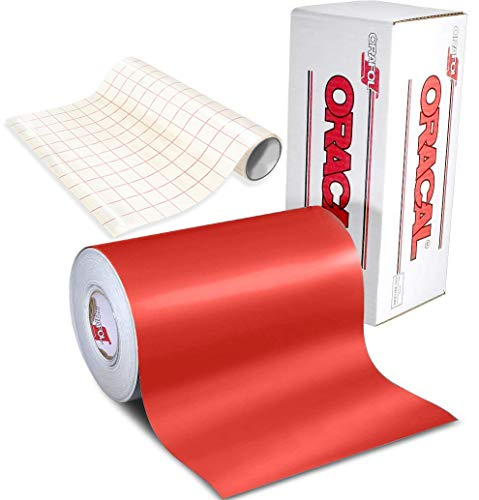 (ORACAL 631 Matte Red Adhesive Craft Vinyl for Cameo, Cricut & Silhouette Including Free 12