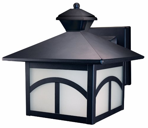 - Heath/Zenith SL-4110-OR 180-Degree Motion-Activated Modern Bungalow Style Decorative Lantern, Oil Rubbed Bronze