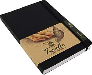 "Pentalic Traveler Pocket Journal Sketch, 8"" x 6"", Black"