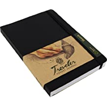 Pentalic Traveler Pocket Journal Sketch, 6-Inch by 8-Inch, Black