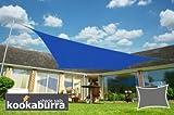 Kookaburra Sun Sail Shade Waterproof – Blue - 13ft 1'' X 9ft 10'' Rectangular