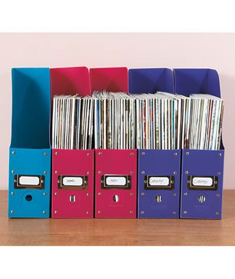 Sets Of 40 Bright Colored Magazine File Holders Amazoncouk Custom Colorful Magazine Holders