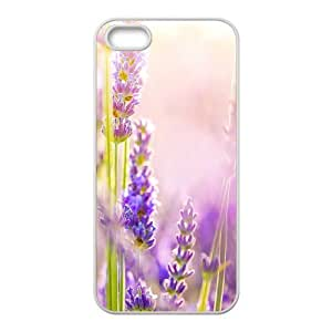 Cool Painting Lavender DIY Cover Case for Iphone 5,5S,personalized phone case case-330590
