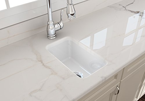 Sotto Undermount Fireclay 12 in. Single Bowl Kitchen Sink with Strainer in ()
