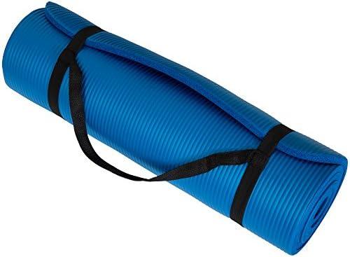Wakeman Fitness - Esterilla de ejercicio para yoga (180 x 60 x 0,5 cm), color azul 3