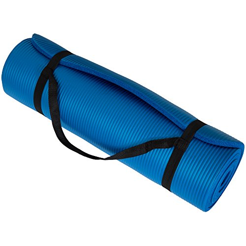 Wakeman Fitness Extra Thick Yoga Exercise Mat 71