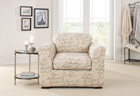 Stretch Pen Pal by Waverly Separate Seat Chair Slipcover