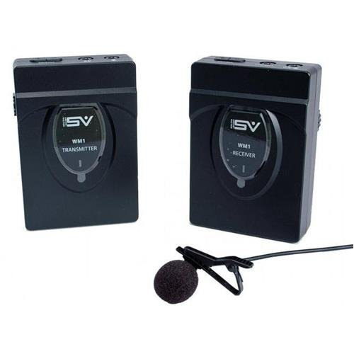 Smith-Victor Wireless Omnidirectional Lavalier Microphone with Transmitter, Receiver, 2x Earphones Smith Victor Shoe Mount