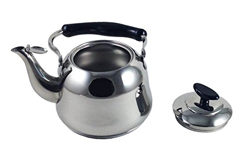 1 5 liter alpine cuisine polished mirror finish stainless for Alpine cuisine tea kettle
