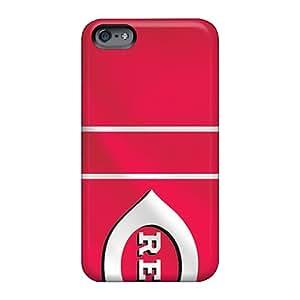 High Quality Phone Cases For Apple Iphone 6 Plus With Unique Design Stylish Cincinnati Reds Skin AshtonWells