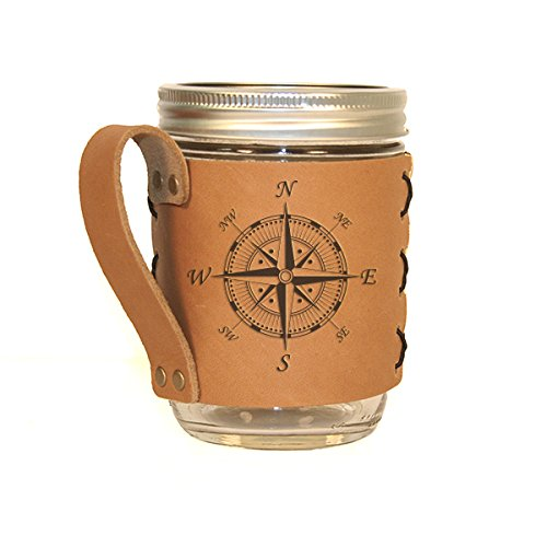 Compass Leather Sleeve Handle Holder product image