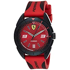 Scuderia Ferrari Mixte Analogique Quartz Montres bracelet avec bracelet en Silicone - 830517 23