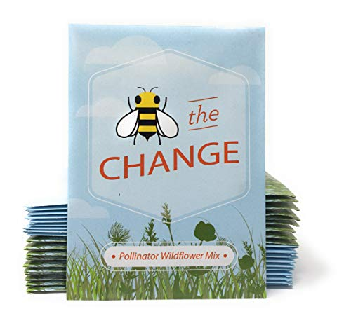 Bee The Change Pollinator Wildflower Mix Seed Packets - Already Filled - Pack of 20