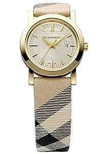 Burberry BU1399 - Reloj de mujer (mecanismo de cuarzo), esfera color dorado