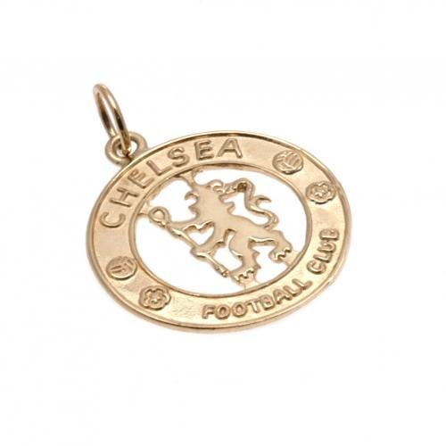 Chelsea F.C. 9ct Gold Pendant- 9ct gold pendant- approx 20mm x 20mm- in a gift box- official licensed product by Chelsea F.C.