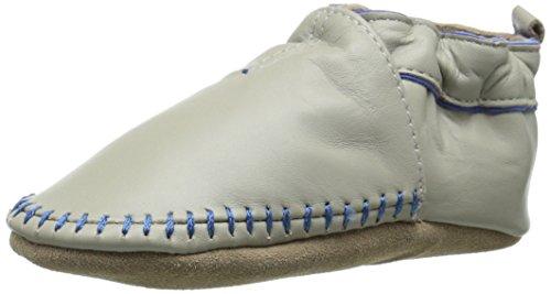 Robeez Classic Moccasin Crib Shoe (Infant), Grey, 12-18 Months M US Infant