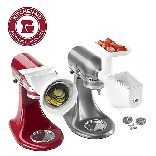 KitchenAid FPPA Stand Mixer Attachment Pack 1 with Food Grinder, Fruit & Vegetable Strainer, and Rotor Slicer & Shredder