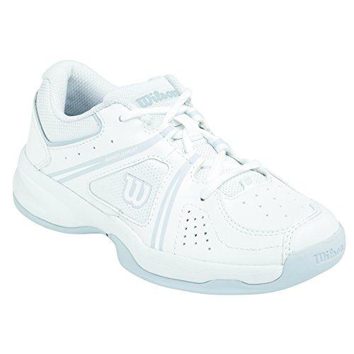 Wilson ENVY JUNIOR, Zapatillas de tenis Unisex infantil Multicolor (Blanco / Gris)