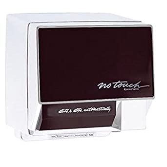World Dryer NoTouch NT126-005 Aluminum White Automatic Hand Dryer - 120V 17A