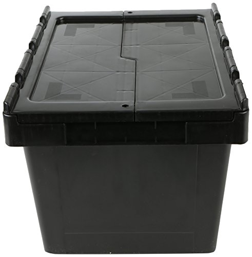 Mind Reader Heavy Duty Crate Storage Bin, Black