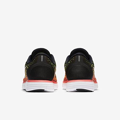 Nike Fria Avståndet Löparskor Svart / Vit / Volt / Varm Lava
