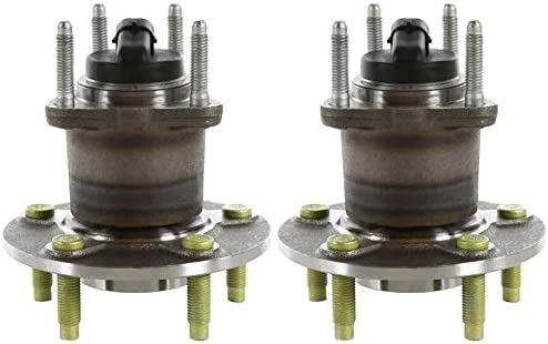 AutoShack HB612287PR Pair of 2 Wheel Bearing Hub Rear Driver and Passenger Side Wheel Hub Bearing and Assembly 5 Lugs with ABS Replacement for 2009 2010 Chevrolet Cobalt 2004-2012 Malibu