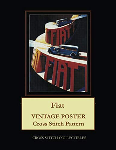 Fiat: Vintage Poster Cross Stitch Pattern