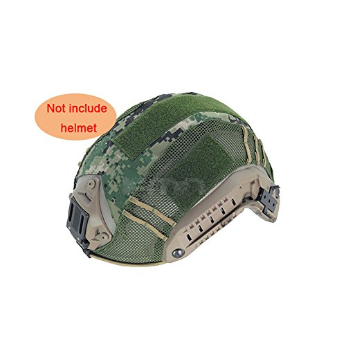 ATAIRSOFT Military Army Tactical Series Airsoft Paintball Hunting Shooting Gear Combat Maritime Helmet Cover AOR2 (Digital Woodland Camo)