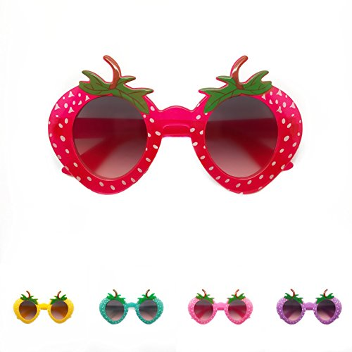 Child Baby Toddler Kid Strawberry Berry Fruit UV Protection Sunglasses Shades Sunnies Boys and - Strawberry Sunglasses