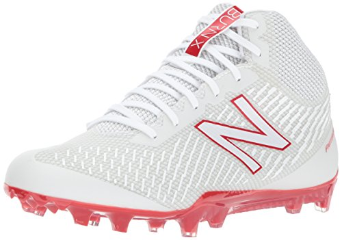 New Balance Mens Burn Mid Speed Lacrosse Shoe White/Red EilTArB