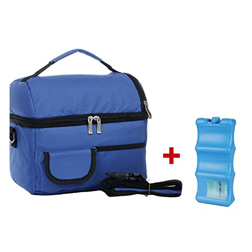 Breastmilk Cooler Shoulder Bag with Ice Pack for Baby Daycar