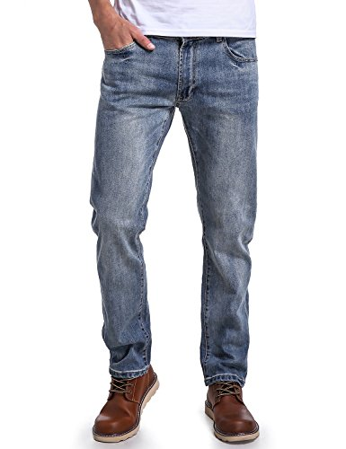 (Eaglide Mens Relaxed Fit Jeans, Regular Fit Comfort Straight Leg Five Pockets Fashionable Jeans(34W ×)