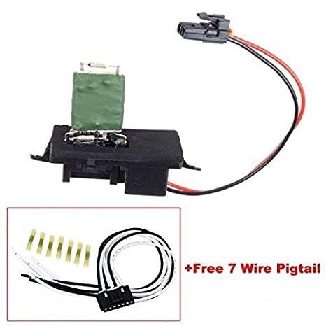 partssquare blower motor resistor 89019089 with wiring harness pigtail  connector fits for 02 03 04 05 06 chevy silverado 1500 2500 suburban 1500  2500 tahoe