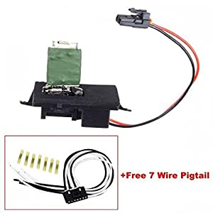 Blower motor resistor 89019089 with wiring for Blower motor resistor wire harness connector