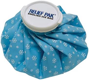 Relief Pak English-Style Ice Bag / Pack Cold Therapy to Reduce Swelling, Decrease Pain and Offer Cold Compression Relief from Bruises, Migraines, Aches, Swellings, Headaches and Fever, 6