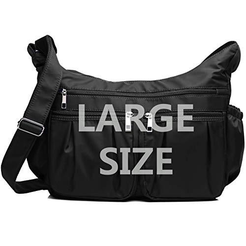 02ff9a960152 Crossbody Bags for Women Multi Pocket Shoulder Bag Waterproof Nylon Travel  Purses and Handbags Lightweight Work Bag