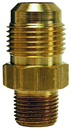 Parker Hannifin 48F-12-8-pk5 Male Connector, Brass, 45 Degree Flare Fitting, 3/4