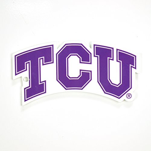 Authentic Street Signs NCAA Super Steel 4 Inch Magnet (TCU Horned Frogs) from Authentic Street Signs
