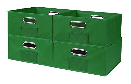 Niche Cubo Half-Size Foldable Fabric Storage Bins (Set of 4), Green