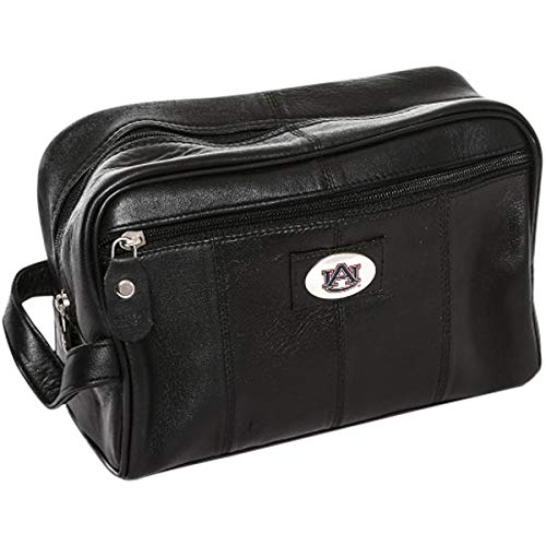 MTC Marketing NCAA Auburn Tigers Black Leather Shave Kit, Team Color, 6
