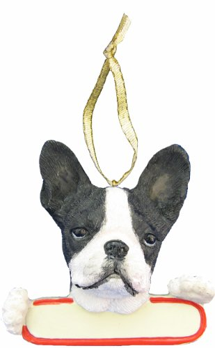 Terrier Christmas Boston Ornament - Boston Terrier Dog Santa's Pal Christmas Ornament