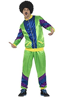 Smiffy's Men's 80s Height of Fashion Shell Suit Costume, Male