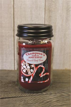 - Thompson Candles Co. Cocoa & Candy Canes Mason Jar Candles