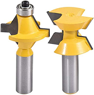 """2Pcs 1//4/"""" Tongue Groove And Router Bit Set Shank Woodworking Tool Chisel Cutter"""
