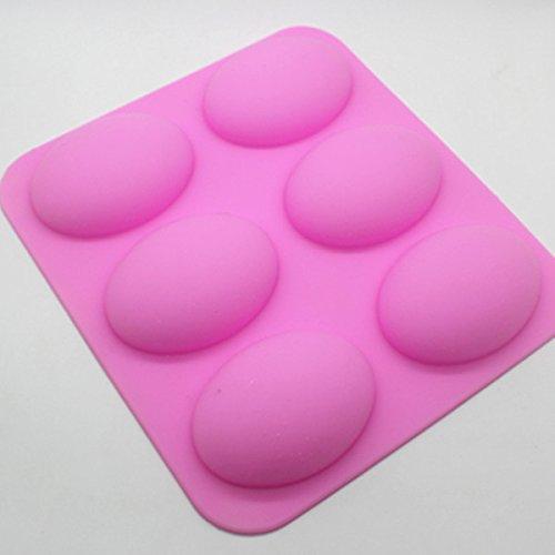 Soap Molds - Wholesale Retail 6 Hole Goose Egg Shape Silica